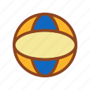ball, set, summer, tukicon icon