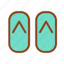 sandal, set, summer, tukicon icon