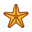 set, starfish, summer, tukicon icon