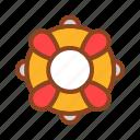 lifeguard, set, summer, tukicon icon