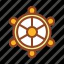 set, ship, summer, tukicon, wheel icon