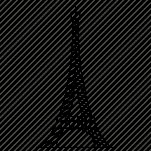 achitecture, eiffel, france, monument, paris, tower, travel icon