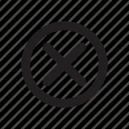 cancel, close, delete, exit, no, remove, stop icon