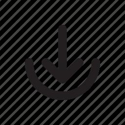 arrow, bottom, download, guardar, save icon