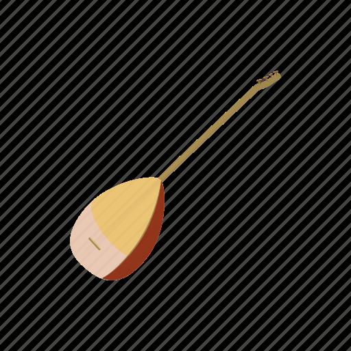 baglama, cartoon, eastern, entertainment, instrument, wooden icon