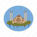 architecture, cartoon, istanbul, mosque, religion, travel, turkey icon