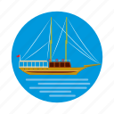 cartoon, istanbul, sea, ship, travel, turkey, turkish icon