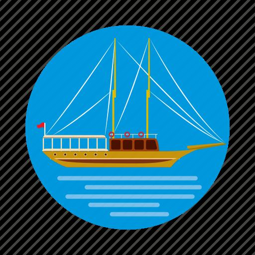 cartoon, istanbul, sea, ship, travel, turkey, turkish icon