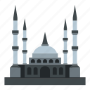 architecture, minaret, mosque, religion, tourism, travel, turkey icon