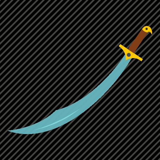 blade, handle, knife, scimitar, sword, turkish, weapon icon