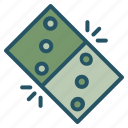 domino, peaks, tile, twin icon