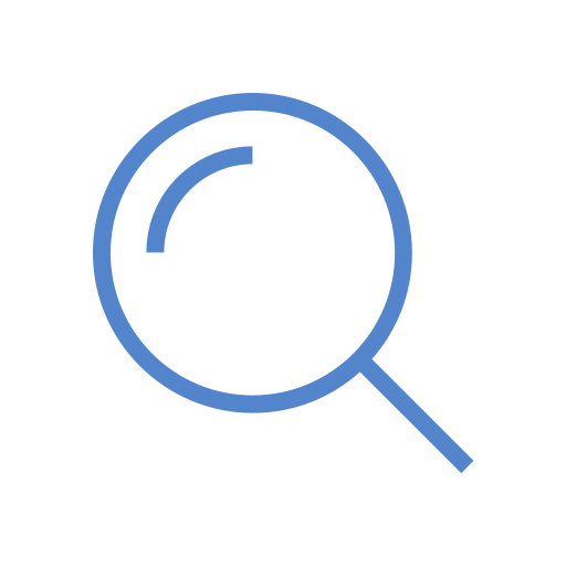 find, glass, in, look, magnifying, search, zoom icon