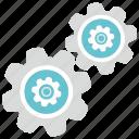 engine, gear, option, settings icon