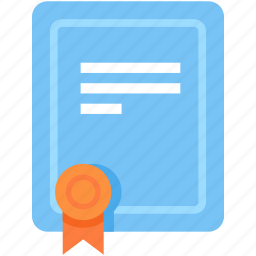 certificate, document, licence icon