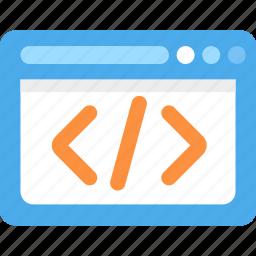 code, development, html, programming, website icon