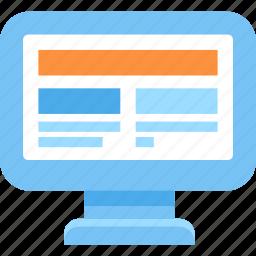computer, internet, monitor, screen, web icon