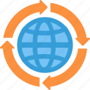 global, globe, interent, web icon