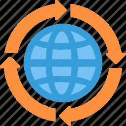 global, globe, interent, web icon