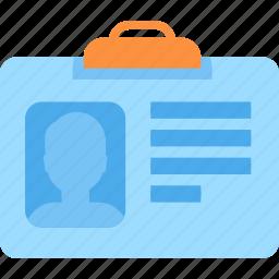 id, license, pass, permit icon