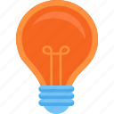 bulb, idea, lamp, light icon