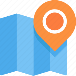 map, mark, pin icon