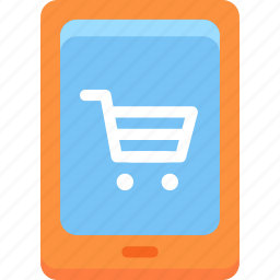 cart, commerce, mobile, mobile phone, shopping icon