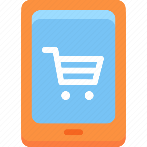 Mobile, commerce, shopping, mobile phone, cart icon - Download on Iconfinder