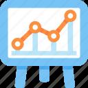 presentation, statistics icon