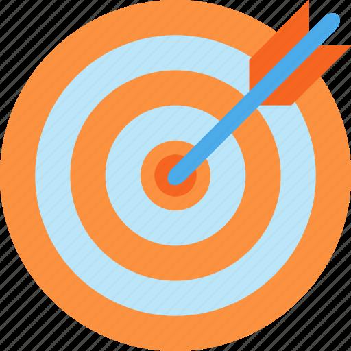 aim, arrow, target icon