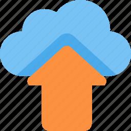 arrow, cloud, upload icon