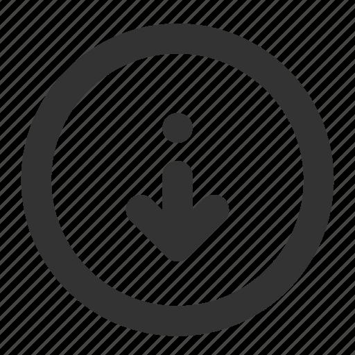arrow, arrow down, download, interface icon