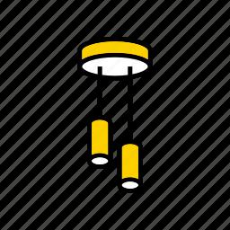 ceiling, chandelier, lamp, lighting, luminaire icon