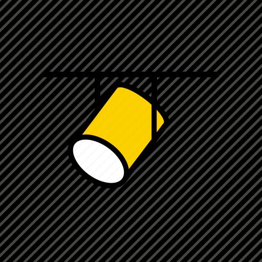 ceiling, floodlight, lamp, lighting, luminaire, spotlight icon