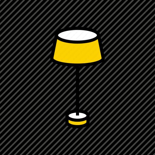 floor, lamp, lampshade, luminaire, torchere icon