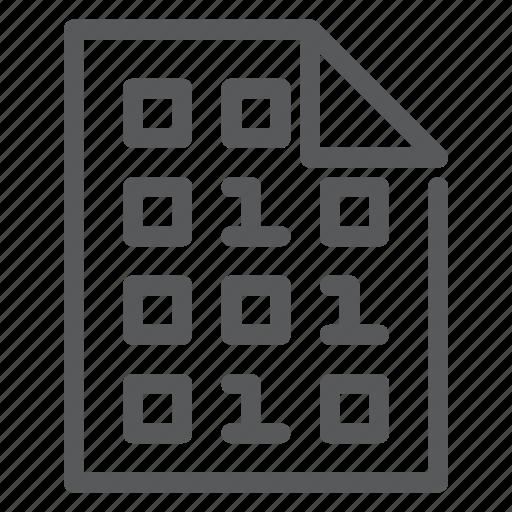 biometrics, code, development, file, programming, software icon