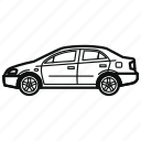 auto, car, sedan