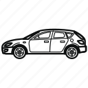 auto, car, hatchback, vehicle icon