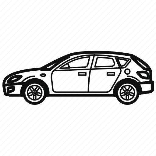 auto, car, hatchback, vehicle icon