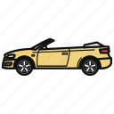 auto, cabriolet, car, convertible, vehicle icon