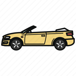 auto, cabriolet, car, convertible, vehicle icon