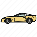 auto, car, roadster, sport car, vehicle icon