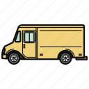auto, car, food truck, trailer, vehicle icon