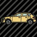 auto, car, hatchback, vehicle
