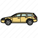 auto, car, vehicle, wagon icon