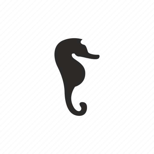 hippocampus, sea, seahorse icon