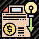 based, bottom, line, minimum, saving icon