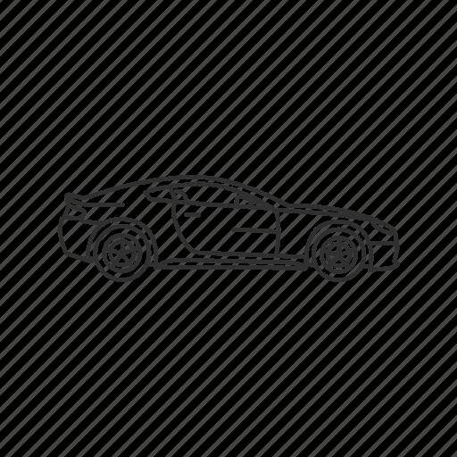 auto, automobile, car, sports car, transportation, travel, vehicle icon