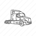 delivery, semi truck, trailer truck, transportation, travel, truck, vehicle icon