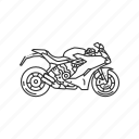 bike, motor, motorcycle, ride, transportation, travel, vehicle icon