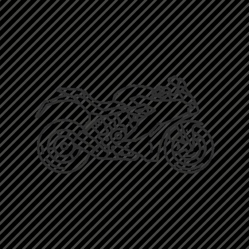 bike, motor, motorcycle, ride, transportation, travel, vehicle icon